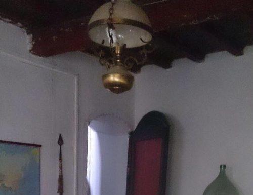 Il soffitto della stanza del camino.