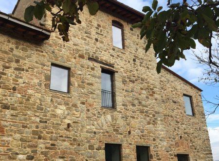 La ringhiera della finestrona della torre